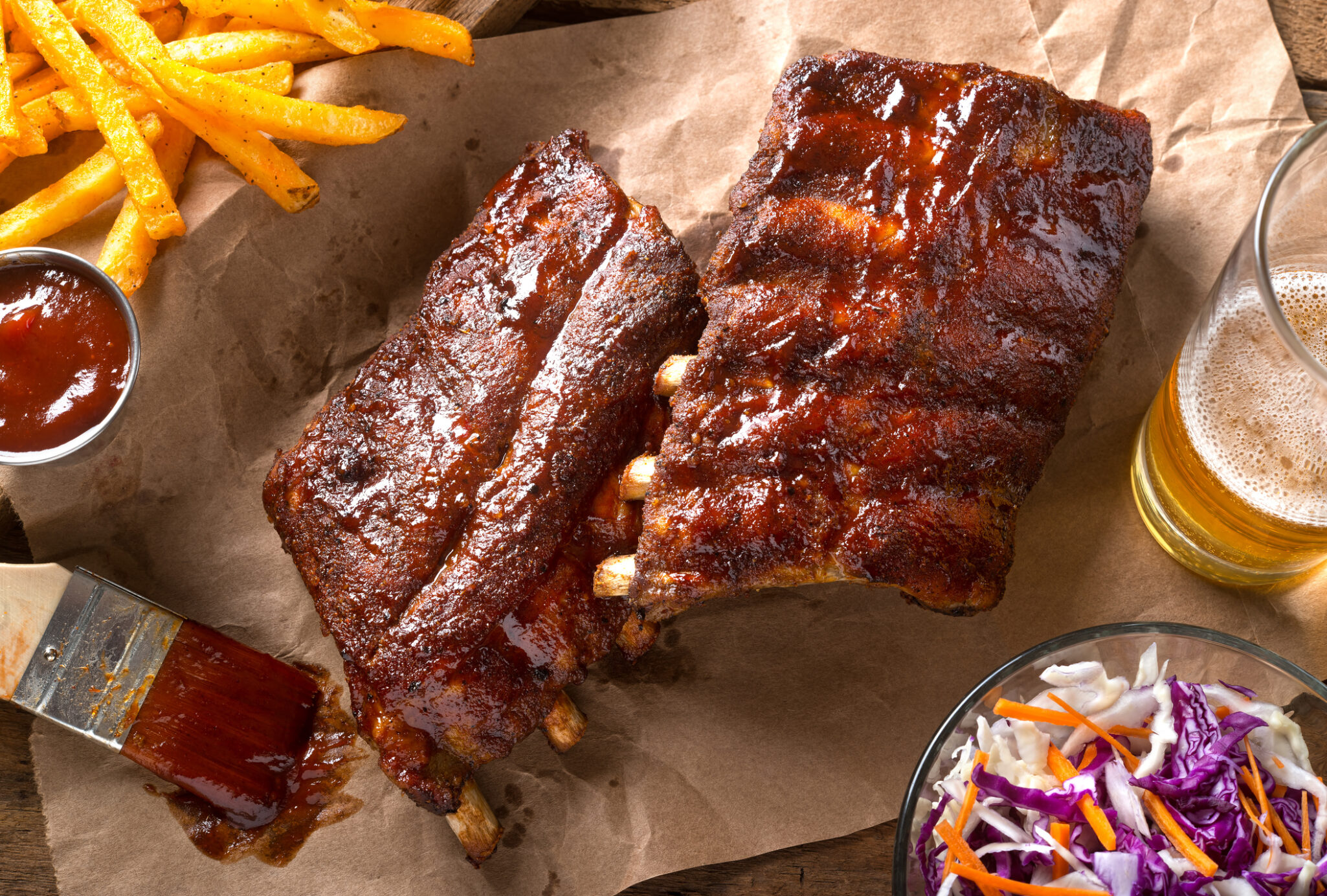 Barbecue Baby Back Ribs being served at Kingswood Senior Living Located in Kansas City, MO.