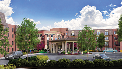 Rendering of the Villa located at Kingswood Senior Living Located in Kansas City, MO.