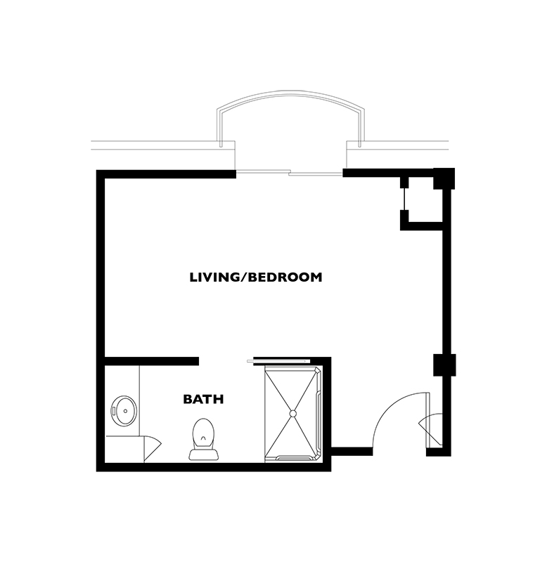 The Derby Royal floor plan located at Kingswood Senior Living Located in Kansas City, MO.